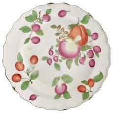 """Rare Chelsea dessert plate, """"Duke of Cambridge"""" service, ca 1760"""