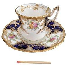 "Coalport ""Batwing"" demitasse cup and saucer, 1914-1939"
