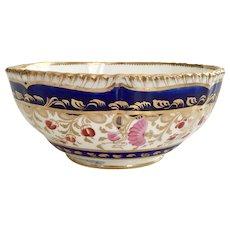 Coalport slop bowl, gadrooned rim patt 629, 1820-1825