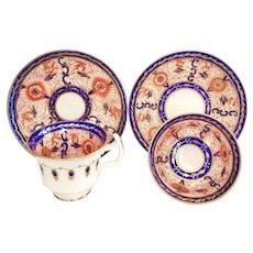 Coalport Anstice, Horton & Rose tea and coffee set, bright imari pattern, 1812-1814