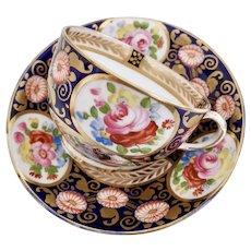 Crown Staffordshire teacup, remake of Swansea Japan design, 1906-1930