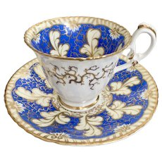 Coffee cup and saucer, attr. Davenport, Rococo Revival ca 1835