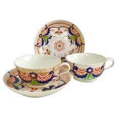 Two Antique Crown Derby breakfast cups, Imari pattern ca 1800-1825