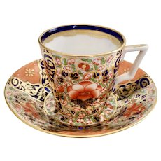 Derby King Street demitasse cup and saucer, Imari 1861-1935