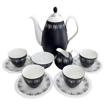 Foley Mid-Century coffee service for 4, Hazel Thumpston 1950s
