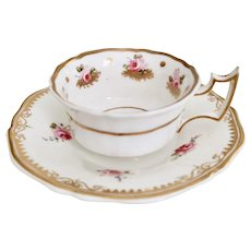 Staffordshire mix and match teacup, rose sprays ca 1825