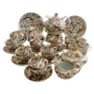 "Spectacular New Hall tea service, rare shape with pattern 446 ""Imari Vine"", ca 1810"