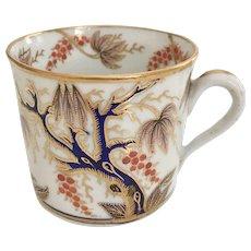 New Hall coffee can, Imari Vine patt. 446, ca 1810