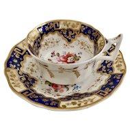 New Hall teacup, Chinese keys and flowers patt. 812, ca 1825
