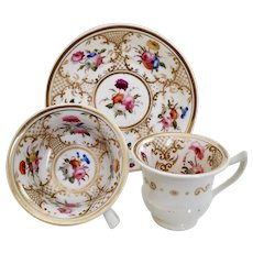 Rathbone trio with Coalport's pattern 966, ca 1820