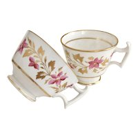 Ridgway orphaned tea and coffee cup set, patt 2/485 London shape, ca 1815