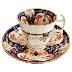 Spode coffee cup and saucer, Imari pattern, sublime condition 1813-1821