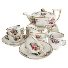Stunning Spode Tea for Two set, Octagon/New Dresden, 1816-1821