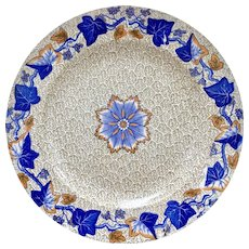 Spode creamware plate, cracked ice and ivy pattern, 1800-1833