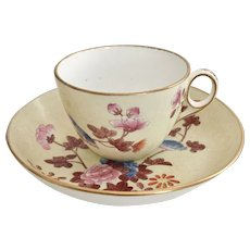 Wedgwood teacup and saucer, Chinoiserie patt. 607, 1812-1820