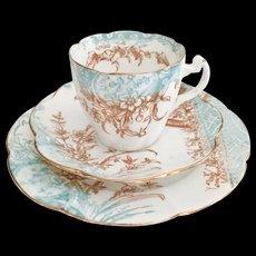Antique Charles Wileman teacup trio, Kensington patt 5028 on Lily shape, 1893