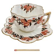 "Wileman demitasse cup and saucer ""Daisy Wreaths"" patt. 6071 on Daisy shape, 1890"