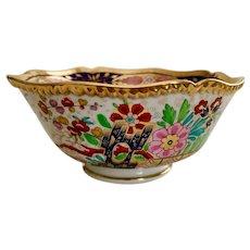 "Flight Barr & Barr bowl, ""crazy"" Japan pattern, ca 1820"