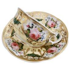 Teacup and saucer, Persian shape, Yates ca 1830
