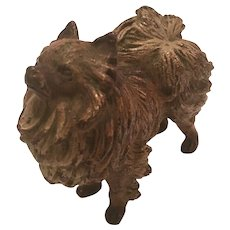 Antique Cold Painted Vienna Bronze Sculpture Of A Pomeranian