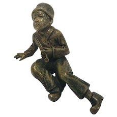 Antique Cold Painted Vienna Bronze Of A Dutchboy