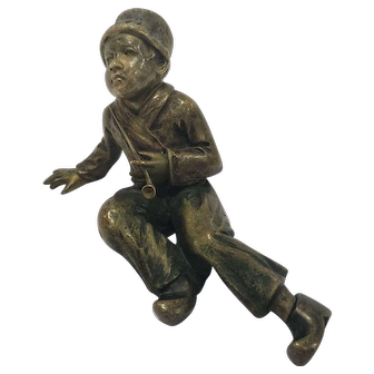Antique Cold Painted Vienna Bronze Of A Dutchboy