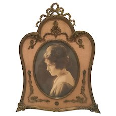 Antique French Bronze Frame With An Unusual Shape