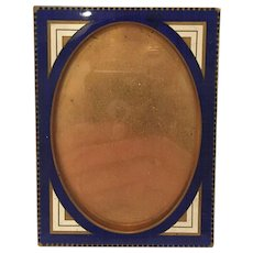 Austrian Bronze And Enamel Picture Frame