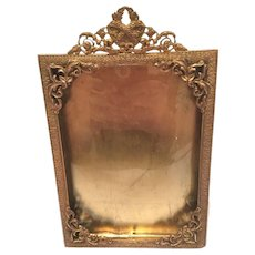 Antique Bronze Picture Frame With Filligry Design