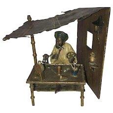 Antique Vienna Bronze Cold Painted Clockmaker