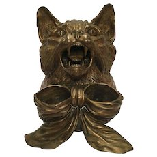Vintage Bronze Cat Box With Hinged Cover