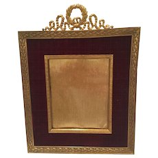Antique French Bronze Frame With Center Photo Area