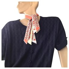 "On sale today $10 Vintage Mid Century Modern ""Pure silk Tri-Tie Japan a top hit fashion Baar & Beards Inc."" neck scarf"