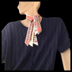 "On sale today $10 Vintage Mid Century Modern ""Pure silk Tri-Tie Japan a top hit fashion Baar & Beards Inc."" neck scarf"