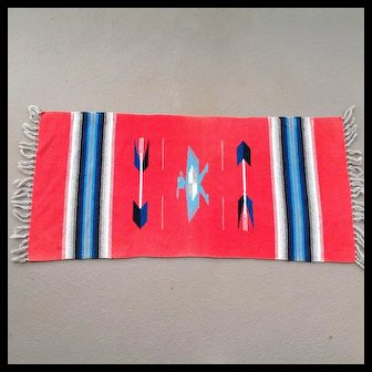 On Sale $95 Chimayó red weaving probably from 1930-40s