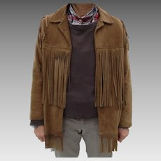 Very Vintage deerskin fringed jacket, look at the back fringe, Ladies size 12, on sale for $85