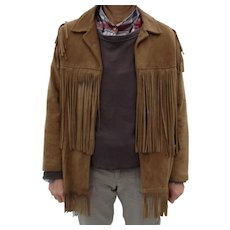 Very Vintage deerskin fringed jacket, look at the back fringe