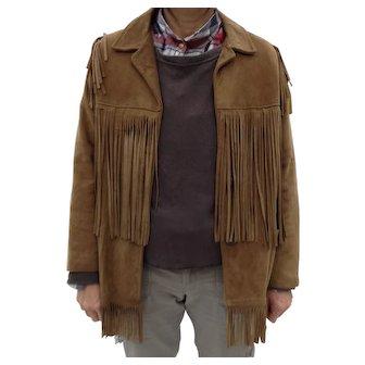 Very Vintage deerskin fringed jacket, look at the back fringe