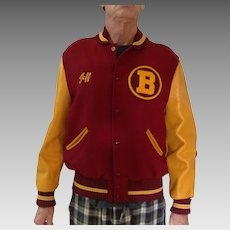 Varsity Letterman's jacket, probably from early 1960's or late 1950's from Bellflower, CA near LA, size 44