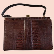 Vintage Lizard Skin ladies hand bag