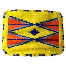 Sale reduced by $100 to $95, Native American Shoshone Beaded belt buckle