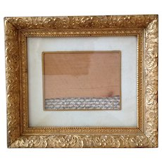 Victorian Gold Gilt Frame with Glass and mount
