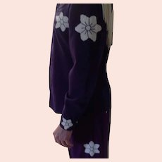 Vintage Rockabilly, Country and Western fringed Outfit, Purples