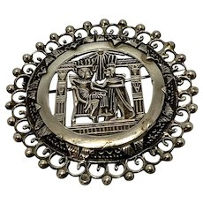 Old Egyptian Revival pin, sold separately from the other one listed with it