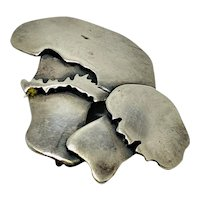 Old Sterling Silver Mushroom Pin by Beckerhoff both stamped and signed