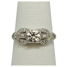 Just appraised for $2700, Art Deco .65c Platinum Band one beautiful 1930's ring
