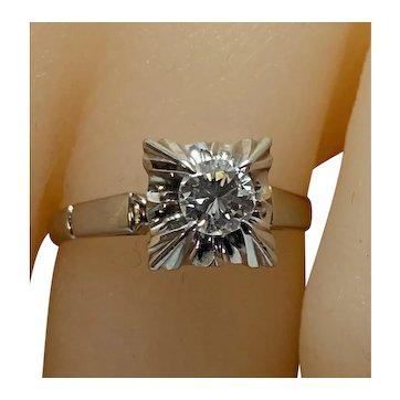 Japanese Palladium .30c Diamond Ring