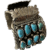 Old Native American Turquoise Cuff watchband