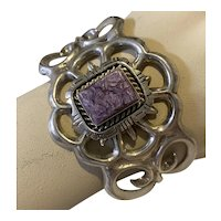 Large Francis L. Begay (stamped F. L. Begay) Charoite stone Cuff