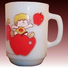 Anchor Hocking Apple Dumpling Mug -- 1980's Strawberry Shortcake Collectible